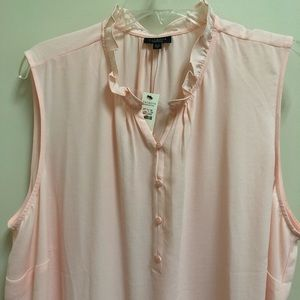 NWT Talbots 3XP pink career top tank button front